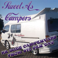 NZ wide campervan rentals